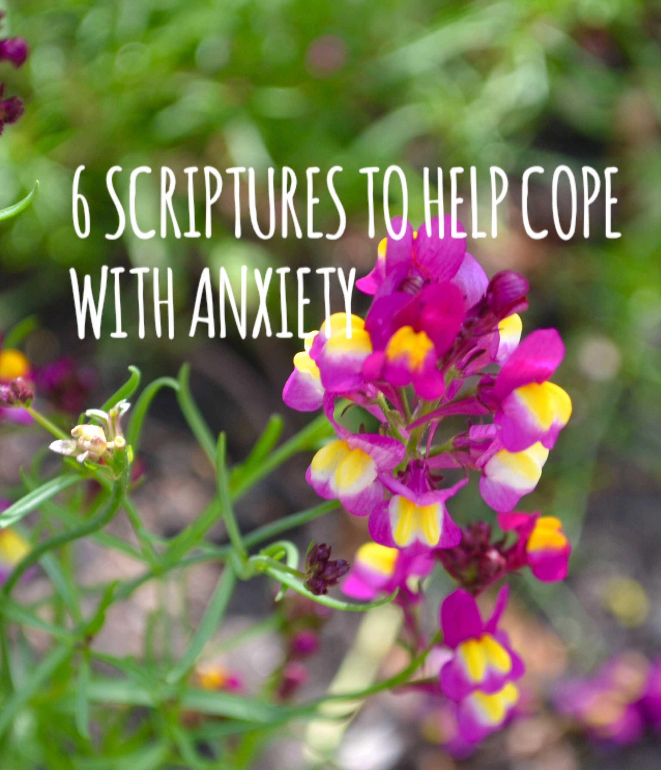 6 SCRIPTURES TO HELP YOU COPE WITH ANXIETY