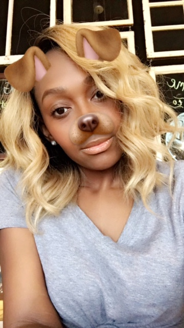 Blonde wig with closure